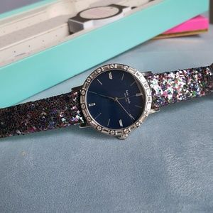 Kate Spade Metro Pave Glitter Watch w/Extra Band